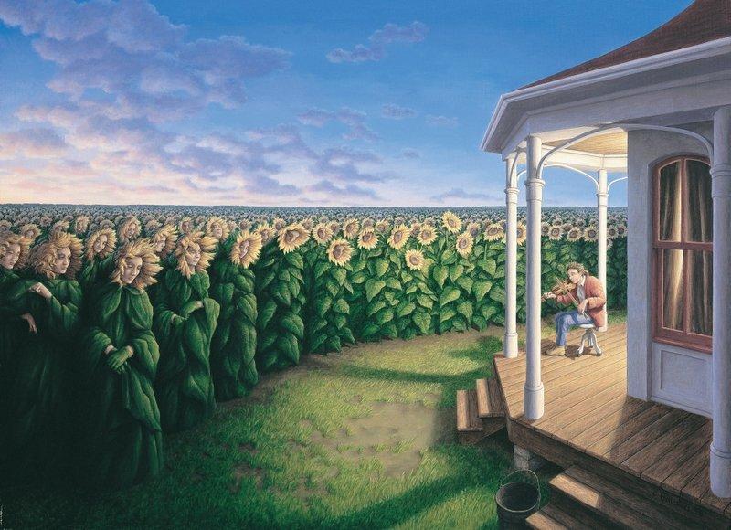 24 оптические иллюзии в работах Роба Гонсалвеса